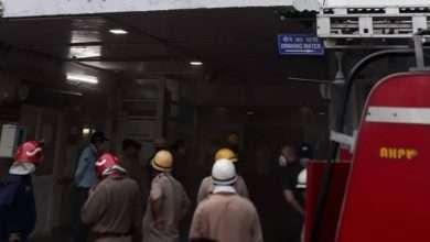 दिल्ली के सफरदजंग हॉस्पिटल में आग लगी।