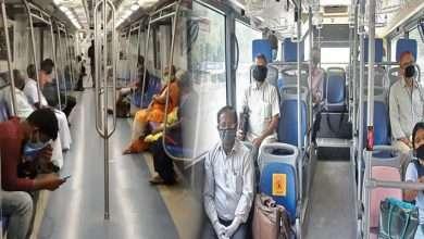 delhi metro and bus photo